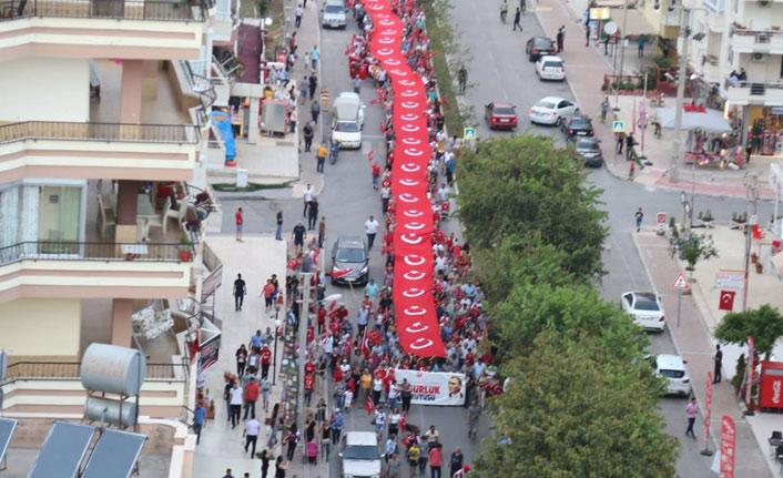 Mezitli'de Cumhuriyet Kutlaması