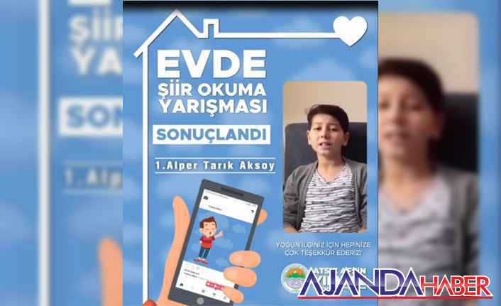 """""""Evde şiirini oku, Türkiye'yi oku çocuk"""""""
