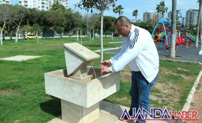 BÜYÜKŞEHİR'den parklara tasarruflu çeşme