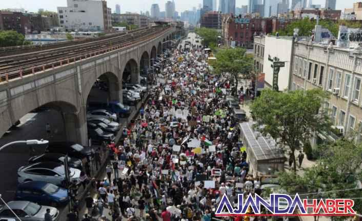 ABD'de Filistin İçin Binlerce Kişi Yürüyüş yaptı.