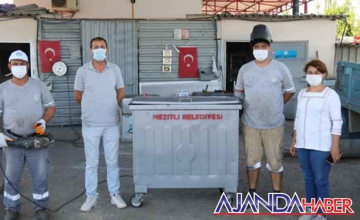 Çöp konteynerlerine modifiyeli sistem