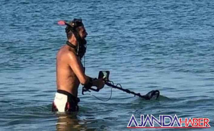Dedektörlerle sahilleri aramaya başladılar