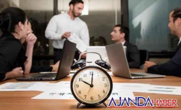 Çalışma saatleri yeniden düzenlendi