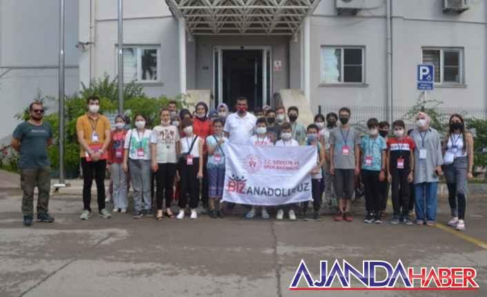 Karaman'dan gelen 40 öğrenciyi ilimizde