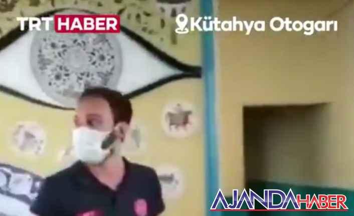 Kütahya Otogarı'nda kurulan aşı standında..