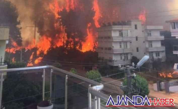Manavgatta 4 ayrı noktada yangını çıktı