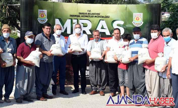 Tarsus Belediyesi Çiftçiye Ücretsiz..