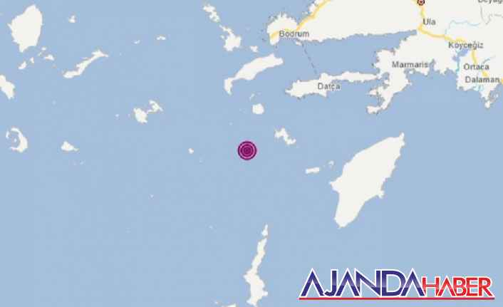 Datça'da 4.5 büyüklüğünde deprem oldu
