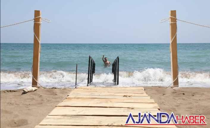 Pompeiopolis Plajına Engelli Rampası