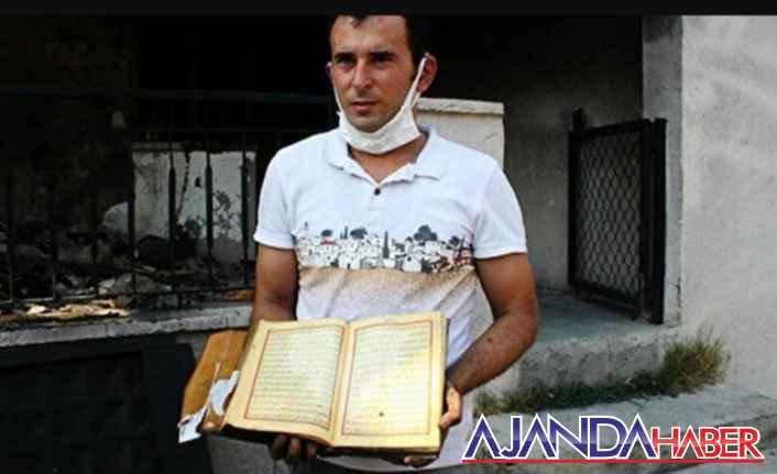 Yangından Kur'an-ı Kerim Zarar Görmedi