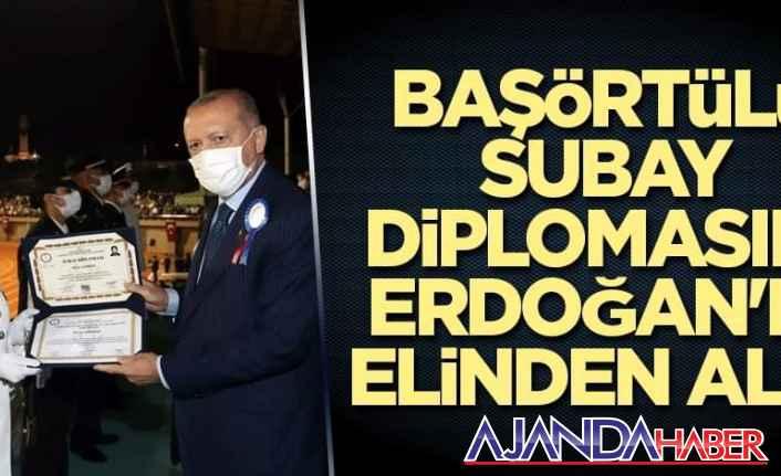 Erdoğan, Baş örtülü subay diplomasını..