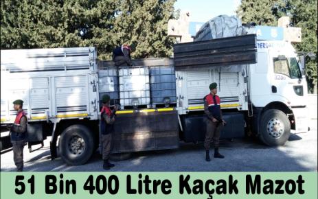 51 Bin 400 Litre Kaçak Mazot