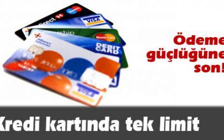 Kredi kartında tek limit