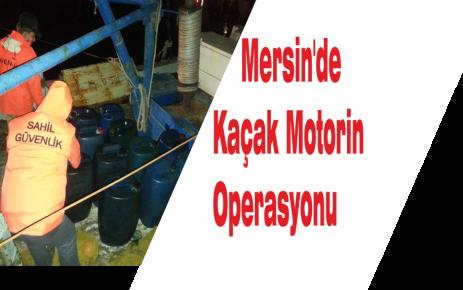 Mersin'de Kaçak Motorin Operasyonu