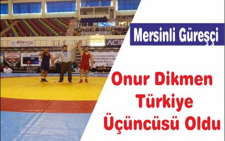 Mersinli Güreşçi Türkiye Üçüncüsü Oldu