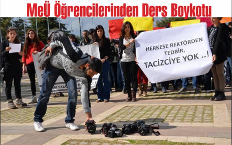 MEÜ Öğrencilerinden Ders Boykotu