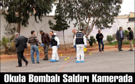 Okula Bombalı Saldırı Kamerada