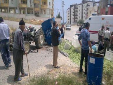 Silifke'de İşçileri Taşıyan Traktör Devrildi: 7 Yaralı