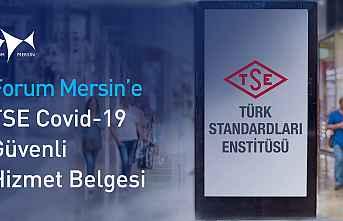 Forum Mersin'e TSE COVID-19  Belgesi