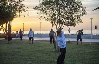 Sağlıklı yaşam için herkes sahile koşuyor