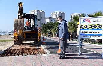 Büyükşehir Bisiklet yolu yapımına başladı