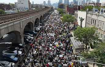 ABD'de Filistin İçin Binlerce Kişi Yürüyüş...