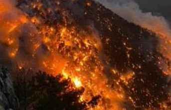 """Çölleşmenin izleri """"orman yangını"""""""
