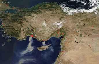Nasa, Türkiye fotoğrafını yayınladı