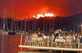 Ormanlar yanarken seyredenler dikkat çekti