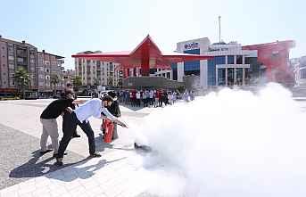 CANİK'de Yangın Tatbikatı Yapıldı