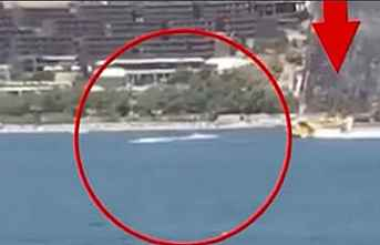Su alan uçağı engelleyen jet-ski'ye..
