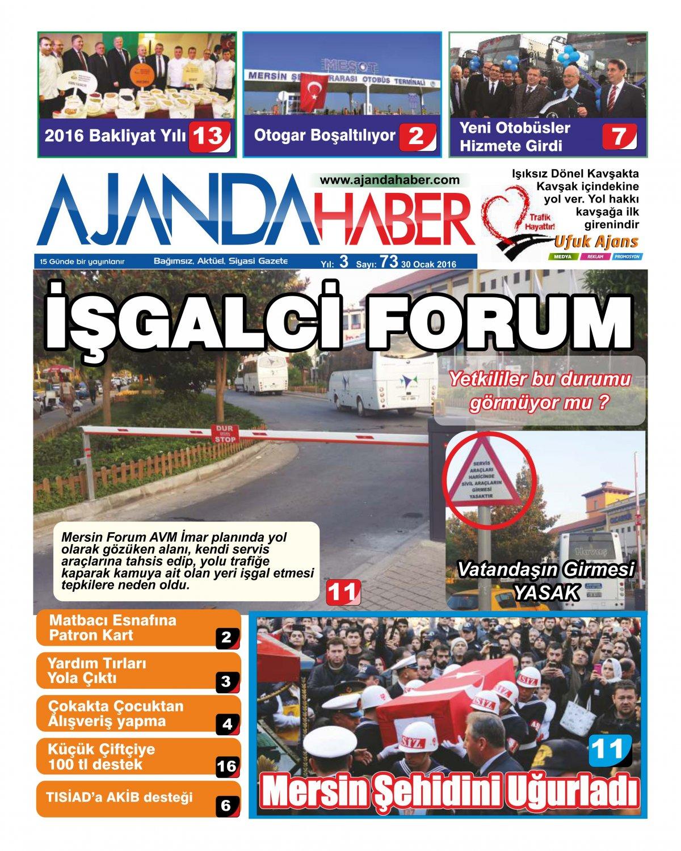 Ajanda haber mersin haberleri, mersin sondakika, ajandahaber, doğru haberin adresi - 03 Şubat 2016 Manşeti
